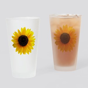 Golden sunflower Drinking Glass