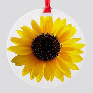 Golden sunflower Round Ornament