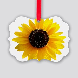Golden sunflower Picture Ornament