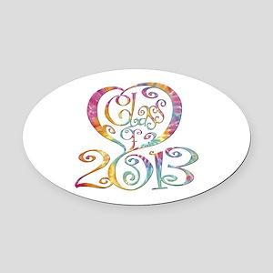2013 Oval Car Magnet