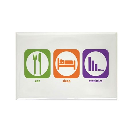 Eat Sleep Statistics Rectangle Magnet (100 pack)