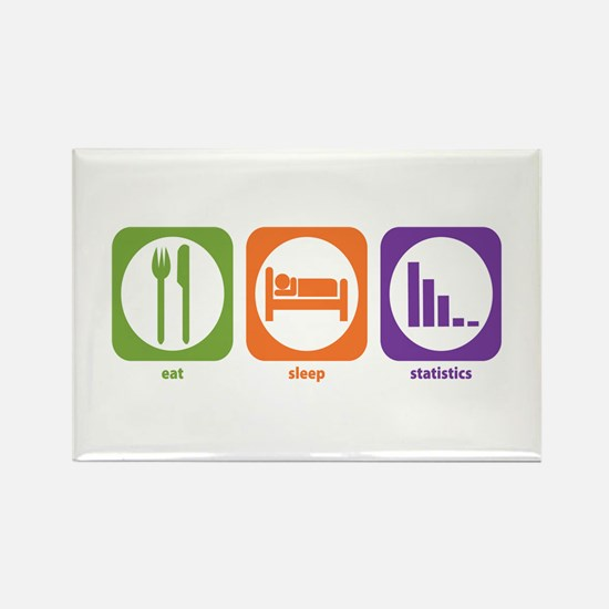 Eat Sleep Statistics Rectangle Magnet
