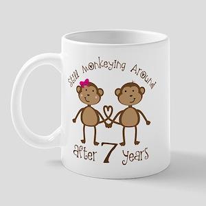 7th Anniversary Love Monkeys Mug