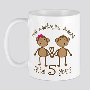 5th Anniversary Love Monkeys Mug