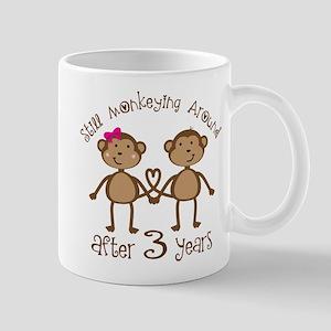 3rd Anniversary Love Monkeys Mug