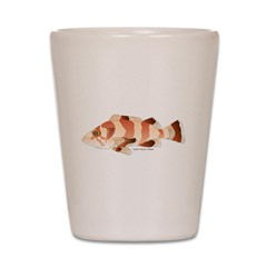 Copper Rockfish fish Shot Glass