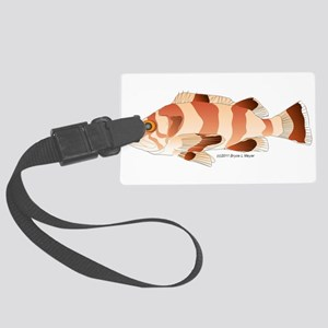 Copper Rockfish fish Large Luggage Tag
