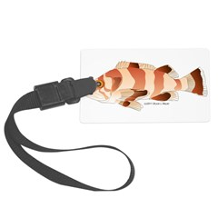 Copper Rockfish fish Luggage Tag