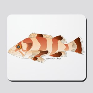 Copper Rockfish fish Mousepad
