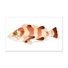 Copper Rockfish fish Rectangle Car Magnet