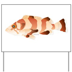 Copper Rockfish fish Yard Sign