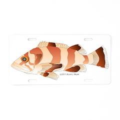 Copper Rockfish fish Aluminum License Plate