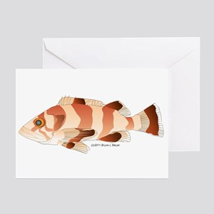 Copper Rockfish fish Greeting Cards (Pk of 20)