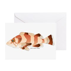 Copper Rockfish fish Greeting Cards (Pk of 10)