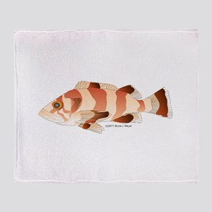 Copper Rockfish fish Throw Blanket