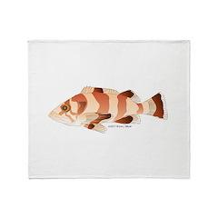 Copper Rockfish fish Throw Blanket