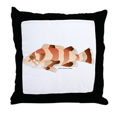 Copper Rockfish fish Throw Pillow