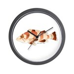 Copper Rockfish fish Wall Clock