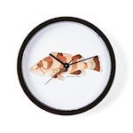 Copper Rockfish fish Wall Clock