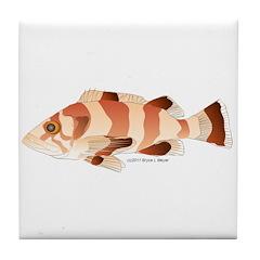Copper Rockfish fish Tile Coaster