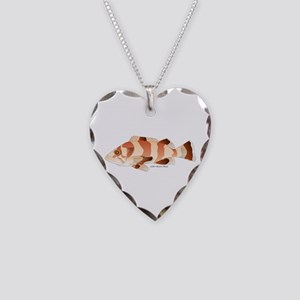 Copper Rockfish fish Necklace Heart Charm
