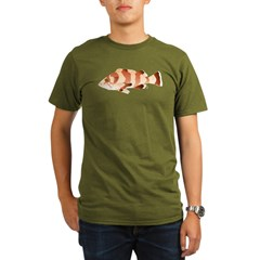 Copper Rockfish fish Organic Men's T-Shirt (dark)