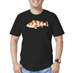 Copper Rockfish fish Men's Fitted T-Shirt (dark)