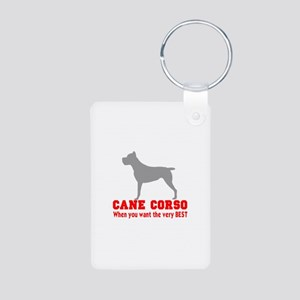 CANE CORSO VERY BEST Aluminum Photo Keychain