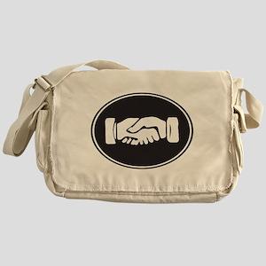 Psi Upsilon Fraternity Hands Symbol Messenger Bag