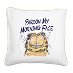 PARDON MY MORNING FACE Square Canvas Pillow