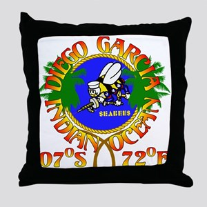 SEABEES of Diego Garcia Throw Pillow