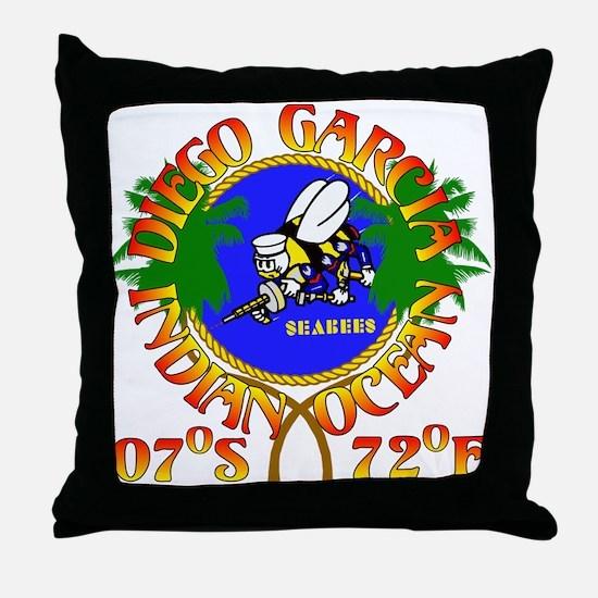 SEABEES of Diego Garcia Throw Pillow
