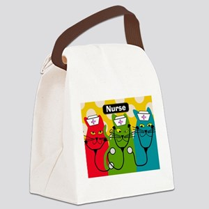 Black cats NURSES 3 Canvas Lunch Bag
