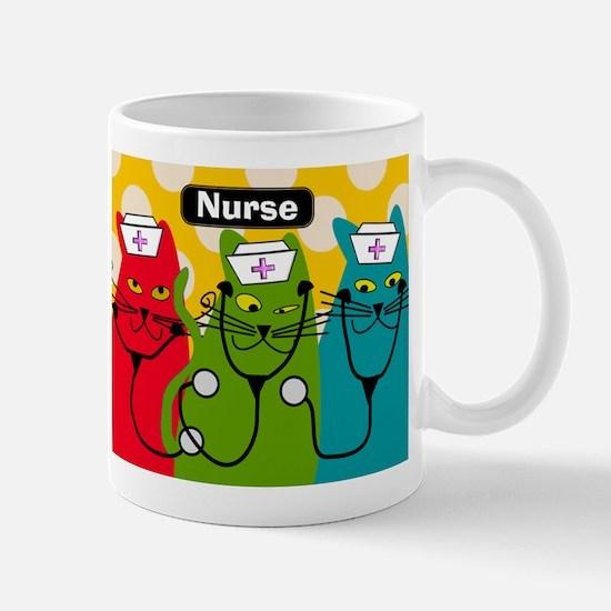 Black cats NURSES 3.PNG Mug