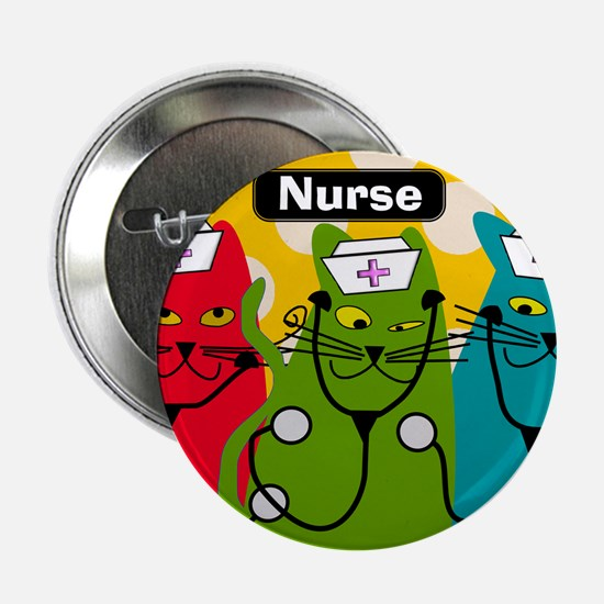 """Black cats NURSES 3.PNG 2.25"""" Button"""
