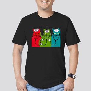 Retired Nurse Blanket CATS Men's Fitted T-Shir