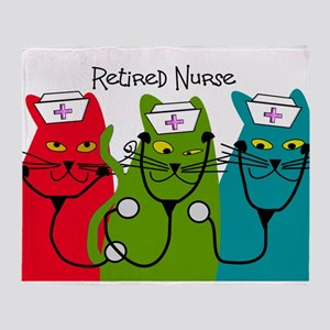 Retired Nurse Blanket CATS Throw Blanket