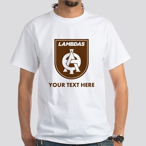 Lambda Theta Phi Logo Personalized White T-Shirt