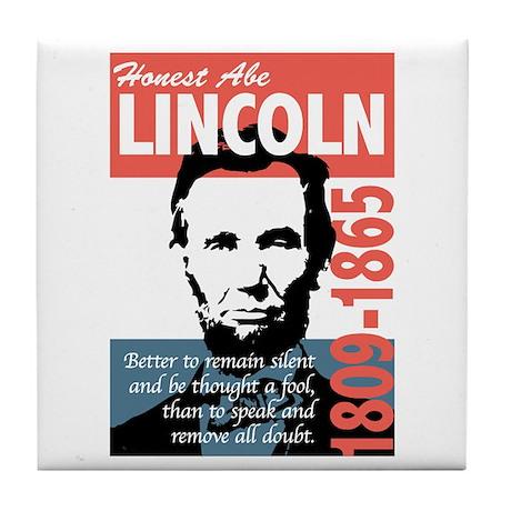 Honest Abe Lincoln President Tile Coaster