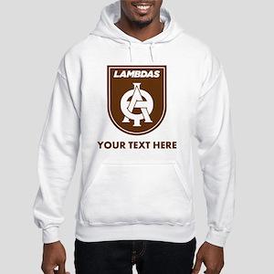 Lambda Theta Phi Logo Personaliz Hooded Sweatshirt