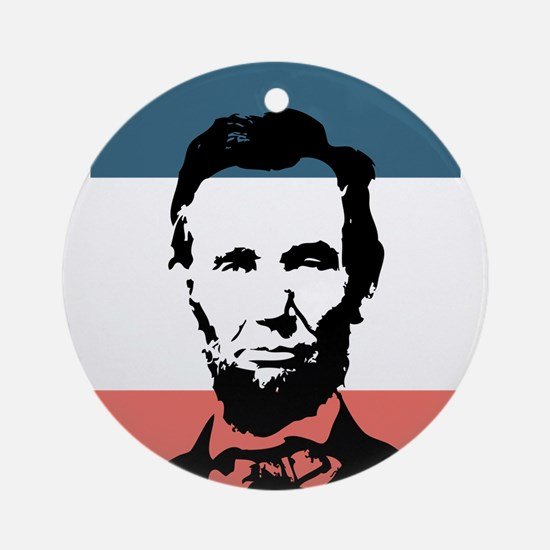 Honest Abe Lincoln President Ornament (Round)