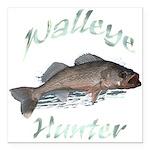 walleye hunter Square Car Magnet 3
