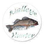 walleye hunter Round Car Magnet