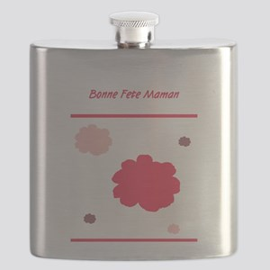 Bonne Fete Maman Mothers Day French Flask