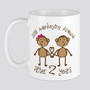 2nd Anniversary Love Monkeys Mug