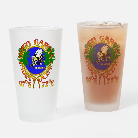 SEABEES of Diego Garcia Drinking Glass
