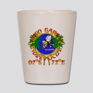 SEABEES of Diego Garcia Shot Glass