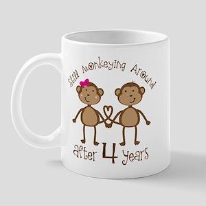 4th Anniversary Love Monkeys Mug