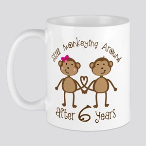 6th Anniversary Love Monkeys Mug