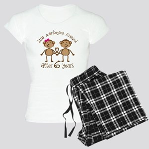 6th Anniversary Love Monkeys Women's Light Pajamas